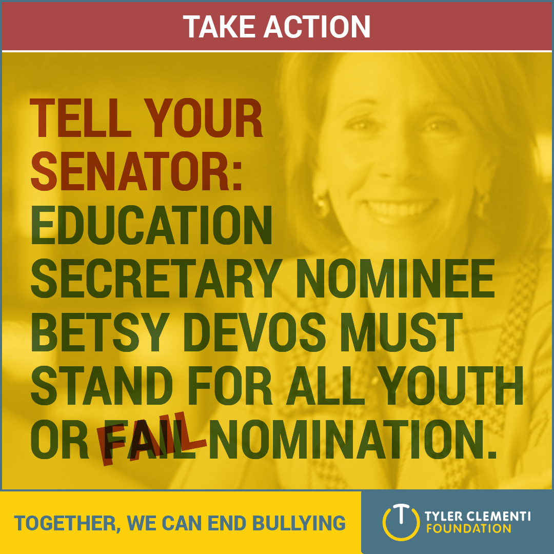 Tell your Senator to Demand Betsy DeVos Commit to All Students